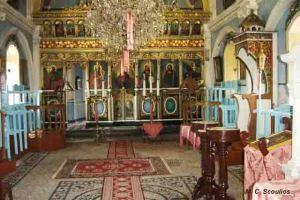 Εσωτερικό της εκκλησιάς του Αγίου Δημητρίου στο Αρβανιτοχώρι.