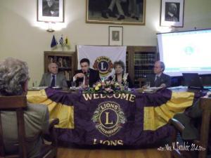 Από αριστερά L.Σπ. Σερεμίδης, ο ομιλητής Ι.Εμίρης, L.Πέννα Εμμανουήλ και L. Αιμίλιος Χρυσόπουλος