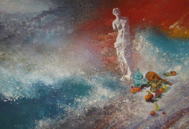 Έργο του ζωγράφου Π. Ζουμπουλάκη