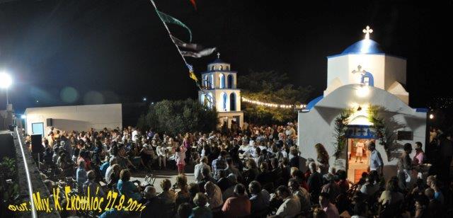 """Στιγμιότυπο από το πανηγύρι του Αγ. Φανουρίου στις """"Καθίστρες"""", το 2011"""