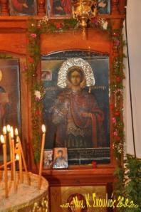 """Η εικόνα του Αγίου Φανουρίου στο ξωκλήσι στις """"Καθίστρες"""""""