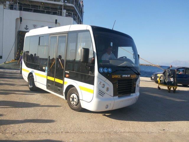 Το νέο Δημοτικό Λεωφορείο της Κάσου.