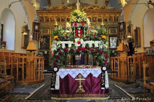 O Επιτάφιος στην Αγία Μαρίνα. Φωτ. Μ.Η. Περσελής