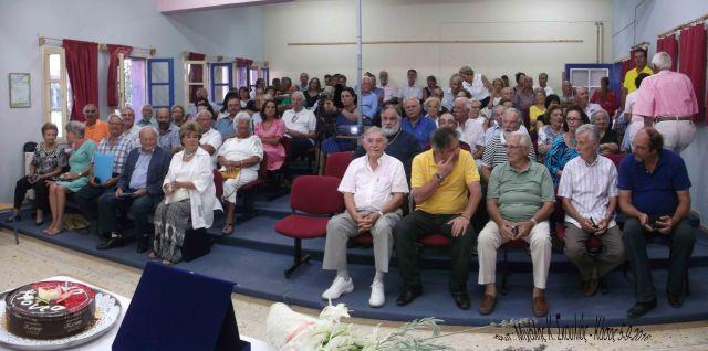 Στιγμιότυπο από την τιμητική εκδήλωση του Δήμου Κασίων για τον Pierre Mutin