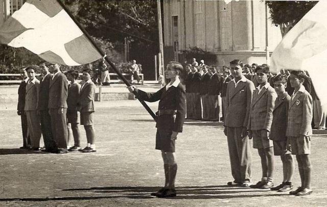 Φωτογραφία εποχής (1946) από τον εορτασμό της Σημαίας στην Αλεξάνδρεια
