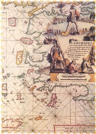 Ταξιδιώτικός Χάρτης Αρχιπελάγους 15ος αί.