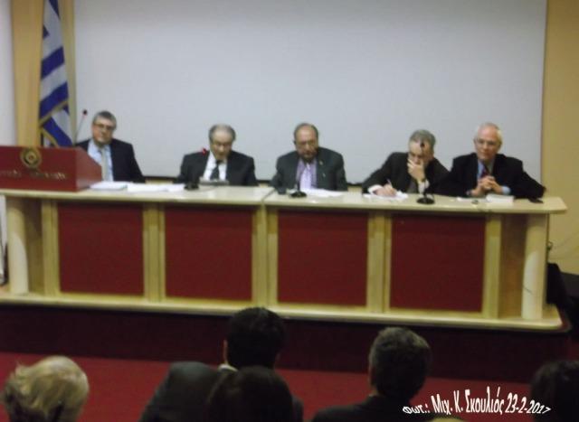 Από αριστερά: Φ. Καλλούδης, Εμμ. Γρύλλης, Μ. Αλεξιάδης, Χ. Μπαμπούνης & Εμμ. Περσελής
