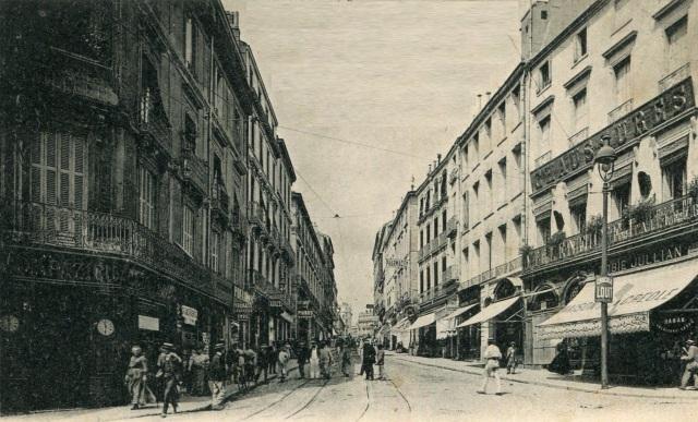 Δρόμος στο Montpellier, φωτ. 1ων 10ετιών του 20ου αι.